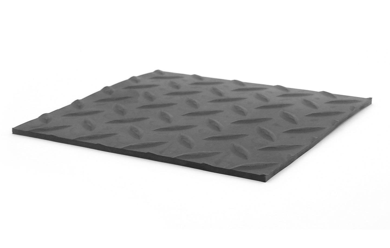 Diamond Plate Rubber Floor Mat